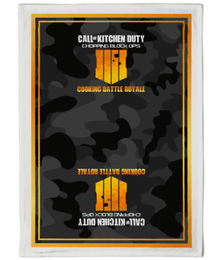 Call of Kitchen Duty Chopping Block Ops - Parody Gamer Gift Camouflage Tea Towel
